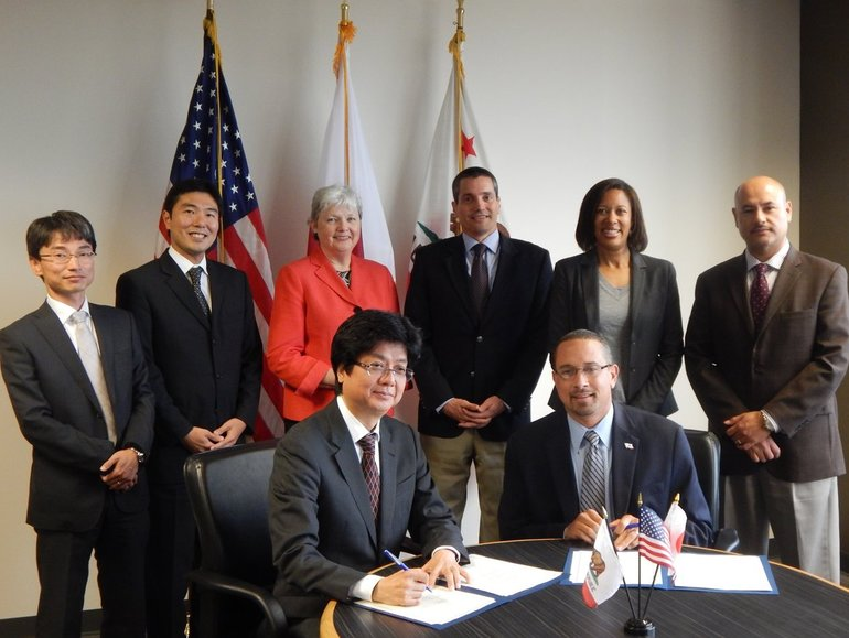 The office of Gov. Jerry Brown is building a partnership with the Japanese government's New Energy and Industrial Technology Development Organization.