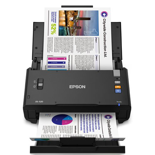 Epson WorkForce DS-520 Sheet-Fed Color Document Scanner for PC & MAC, Auto Document Feeder (ADF) & Duplex