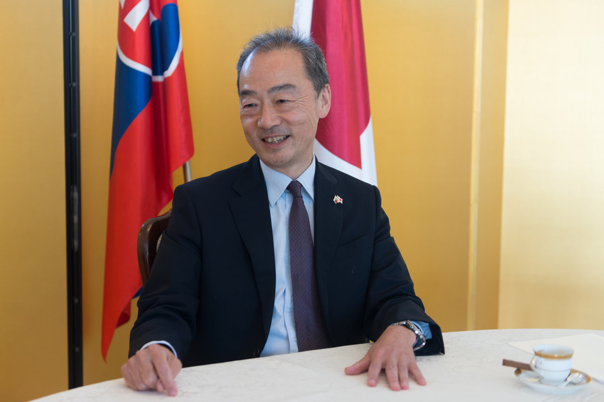 Slovakia and Japan could develop their good chemistry, says Japanese Ambassador to Slovakia Jun Shimmi.(Source: Jana Liptáková)